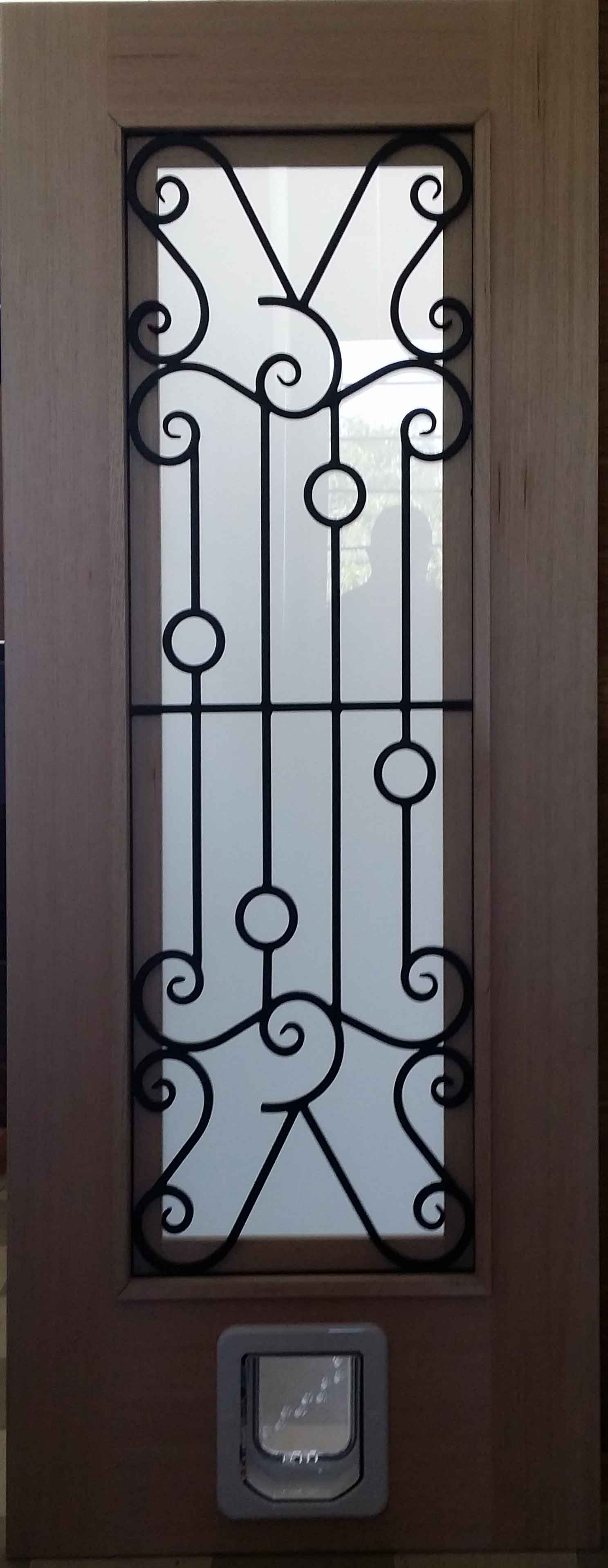 Custom Pet Door with opeing Window