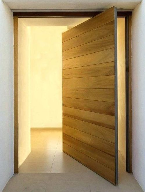 Solid Vic Ash Ship Lap Pivot Door Complete With Frame And